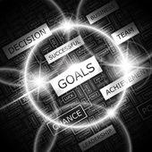 GOALS. — Stock Vector