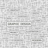 GRAPHIC DESIGN. — Stock Vector