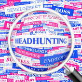 HEADHUNTING. — Stock Vector