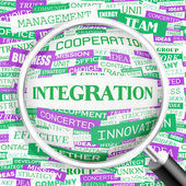 INTEGRATION. — Stock Vector