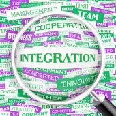 INTEGRATION. — Stock Vector