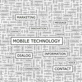 MOBILE TECHNOLOGY. — Vettoriale Stock
