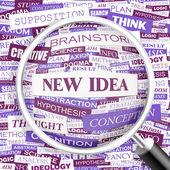 NEW IDEA. — Stock Vector