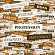 PROFESSION.  — Stockvectorbeeld