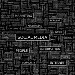 SOCIAL MEDIA. — Stock Vector