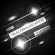 TELECOMMUNICATION. — Stockvektor