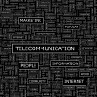 TELECOMMUNICATION. — Vettoriali Stock