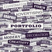 PORTFOLIO. — Stock Vector