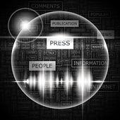 PRESS. — Stock Vector