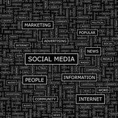 Sociale media. — Stockvector