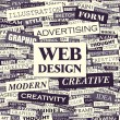 WEB DESIGN. — Stockvectorbeeld