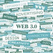 WEB 3 0. — Stock Vector