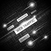 WEB TRAFFIC. — Stock Vector