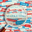 di marketing. — Vettoriale Stock