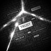 TRUST. — Stock Vector