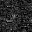 MEDIA. — Stockvector
