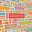 LOGISTICS. — Stockvectorbeeld