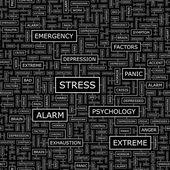STRESS. — Stock Vector