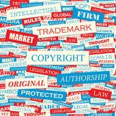 Derechos de autor. — Vector de stock