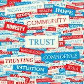 доверие. — Cтоковый вектор