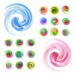 Colorful abstract icon set. — Stock Vector #34457833
