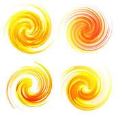 Sunny swirl elements — Stock Vector