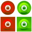 Padlock icon. — Stock Vector #34501489