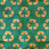 Recycle. Seamless pattern. — Stock Vector