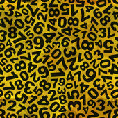Numbers. Seamless pattern. — Stock Vector