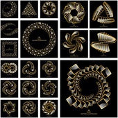 Swirl elements for design — Stock Vector