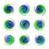 Dynamic flow illustration — Vector de stock