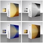 упаковочная коробка — Cтоковый вектор