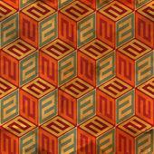 Naadloze vintage patroon. — Stockvector