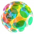 Abstract globe. Vector illustration. — Stock Vector