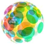 Abstract globe. Vector illustration. — Stock Vector