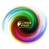 Colorful abstract icon. Dynamic flow illustration. Swirl backgro — Stock Vector