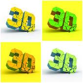 3D. Vector illustration. — Stock Vector
