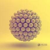 3D concept illustration. Vector template. — Stock Vector