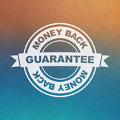 Vector guarantee sign. Money back. — Stock Vector