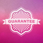 Vector guarantee sign. — Stock Vector