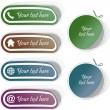 Vector collection of web buttons. — Stock Vector #7160630