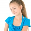 Girl in the blue blouse — Stock Photo