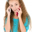 The girl with mobile phone — Stock Photo
