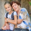 The grandmother with  granddaughter — Stock Photo