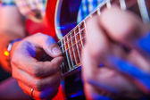 Male Musician with a acoustic Guitar — ストック写真