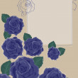 Background with Blue Roses — Imagens vectoriais em stock
