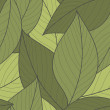 Vector Seamless Pattern of Green Leaves — Stockvectorbeeld