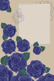 Background with Blue Roses — Vecteur