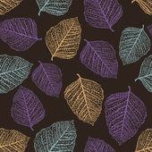 紅葉のシームレスなパターン ベクトル — ストックベクタ