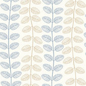 Vector Seamless Pattern of Leaves — Stock Vector